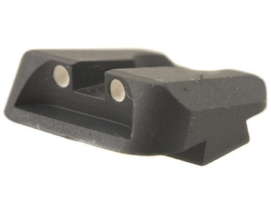 Novak Carry Rear Sight Glock Steel Black with White Dots