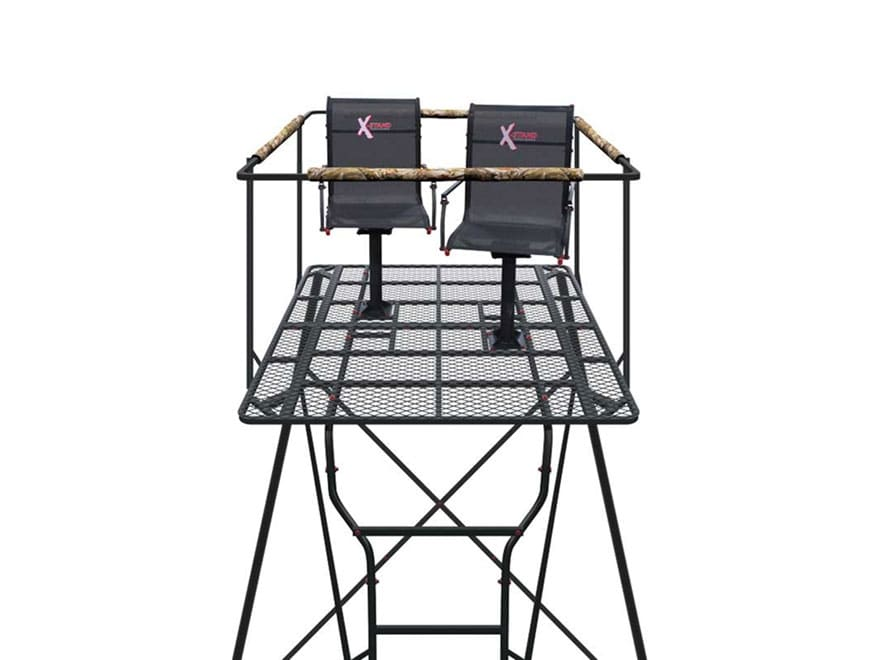 X-Stand The Kingpin Ground Blind Tower Kit Steel Black