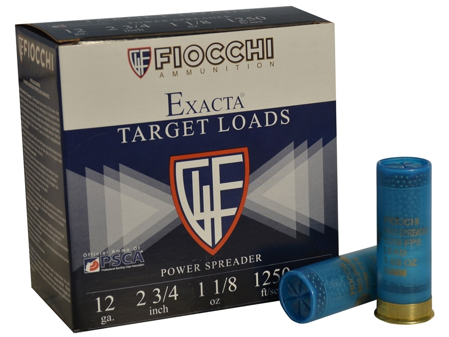 "Fiocchi Exacta Power Spreader Ammunition 12 Gauge 2-3/4"" 1-1/8 oz #8.5 Shot"