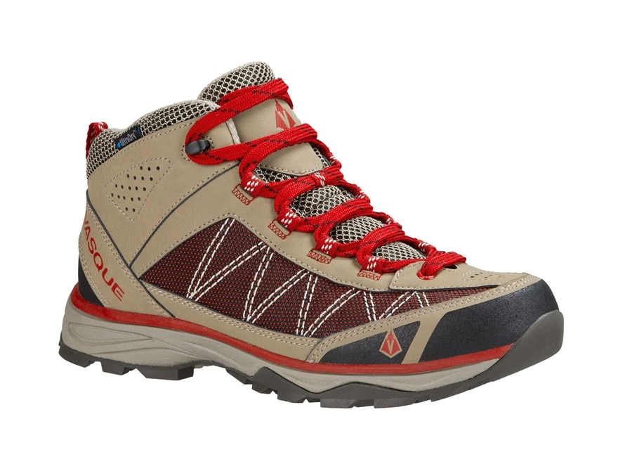 """Vasque Monolith UltraDry 5"""" Waterproof Hiking Boots Leather and Nylon Brindle and Chili..."""