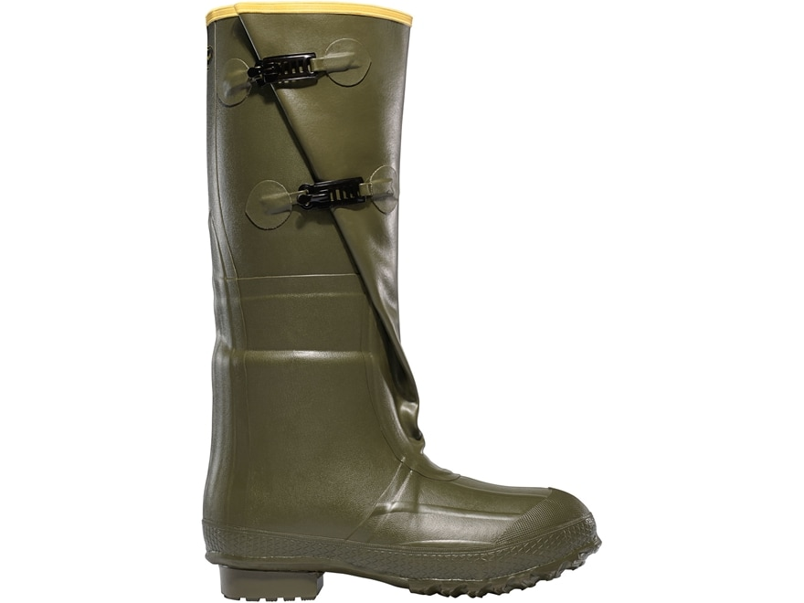 """LaCrosse Insulated 2-Buckle 18"""" Waterproof Insulated Work Boots Rubber OD Green Men's"""