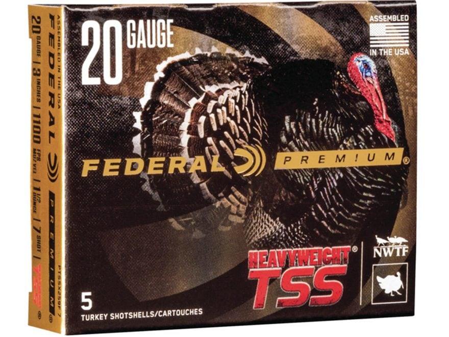 "Federal Premium Heavyweight TSS Turkey Ammunition 20 Gauge 3"" 1-1/2 oz #7 Non-Toxic Tun..."