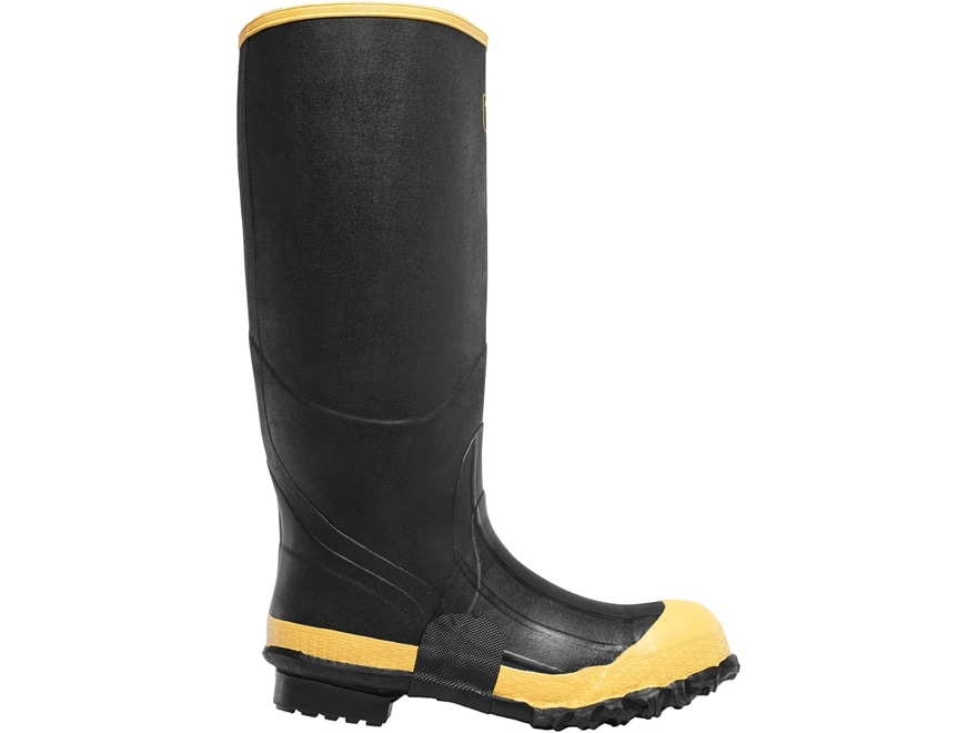 "LaCrosse Premium 16"" Waterproof Steel Toe Knee Boots Rubber Black Men's"
