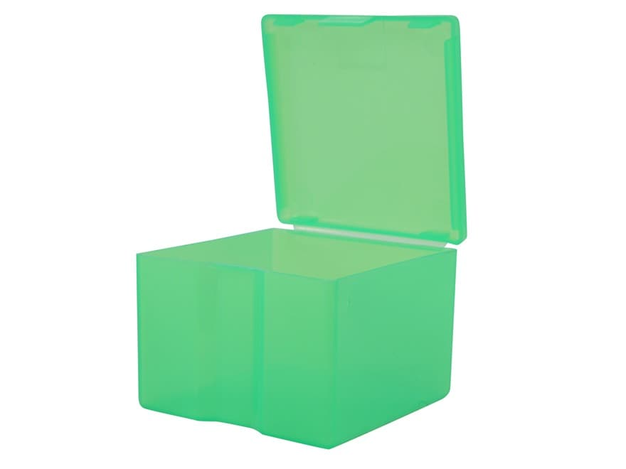 MTM Cast Bullet Box Plastic Clear Green Pack of 2