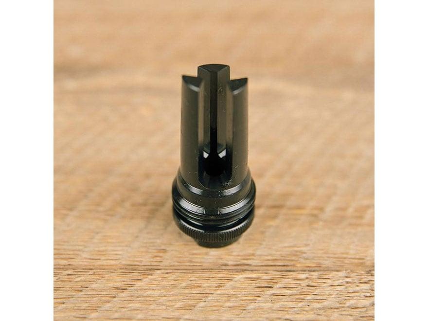 "SilencerCo ASR .46 Muzzle Brake Suppressor Mount 11/16""-24 Thread Steel Matte"