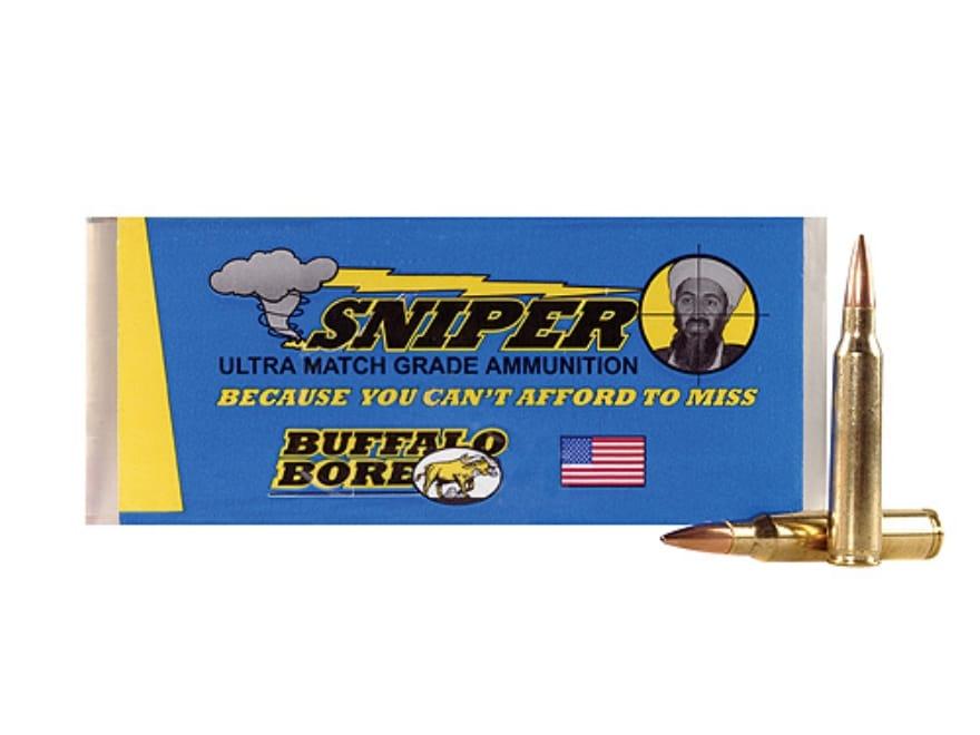 Buffalo Bore Sniper Ammunition 223 Remington 69 Grain Hollow Point Boat Tail Box of 20
