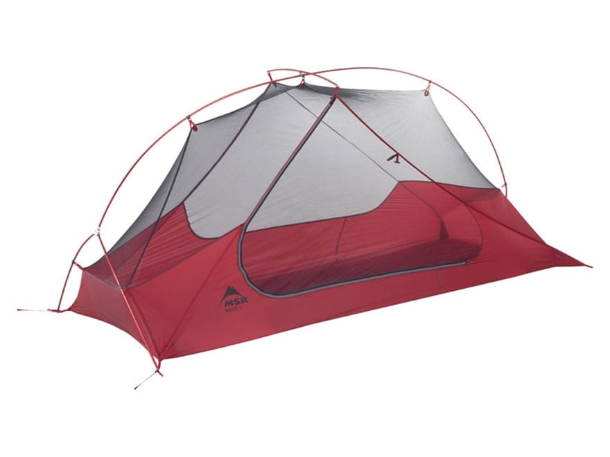 "MSR Freelite 1 Man Modified Dome Tent 86"" x 30"" x 36"" Nylon and Polyester Red and White"