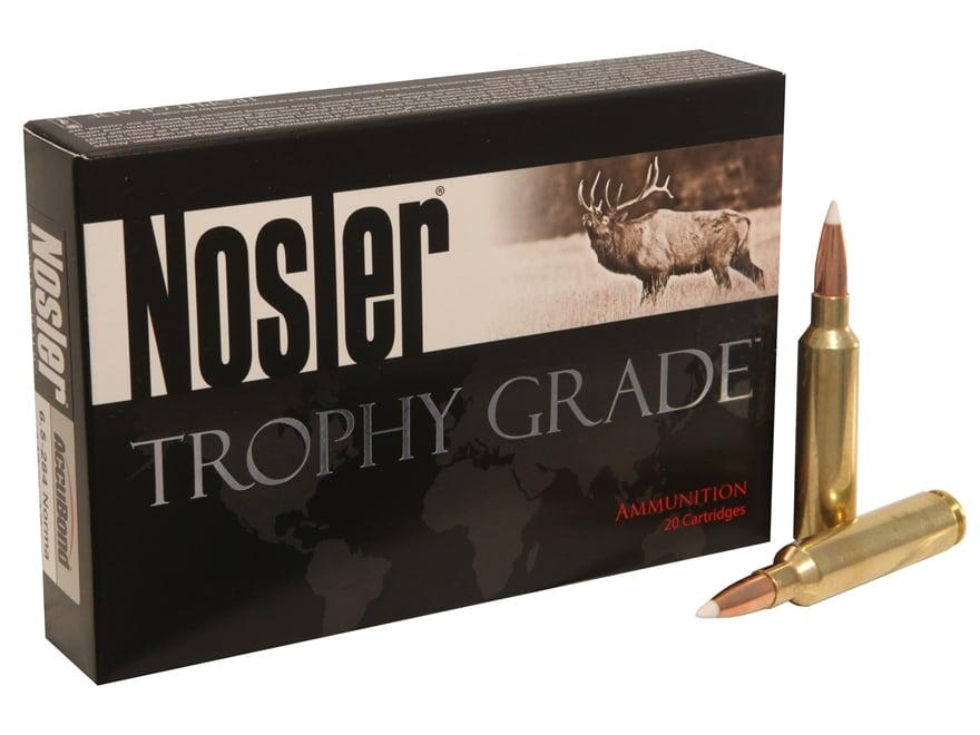 Nosler Trophy Grade Ammunition 6.5mm-284 Norma 140 Grain AccuBond Spitzer Box of 20