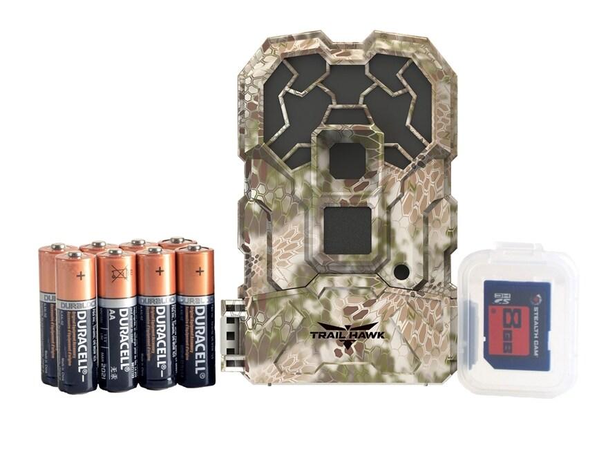 Stealth Cam Trail Hawk No Glo Infrared HD Game Camera Combo 16 Megapixel Kryptek Highla...