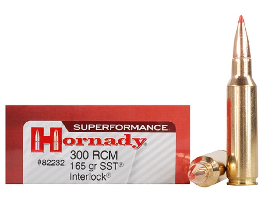 Hornady Superformance SST Ammunition 300 Ruger Compact Magnum (RCM) 165 Grain SST Box o...