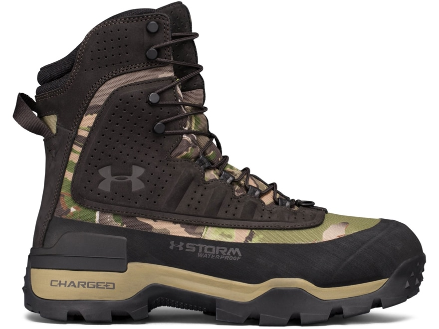 """Under Armour UA Brow Tine 2.0 8"""" Waterproof 800 Gram Insulated Hunting Boots Leather Men's"""