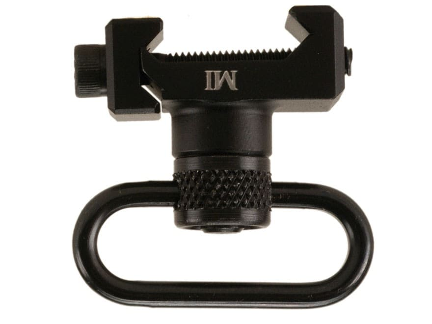 Midwest Industries Rail Mount Sling Adapter with Quick Detach Sling Swivel AR-15 Alumin...