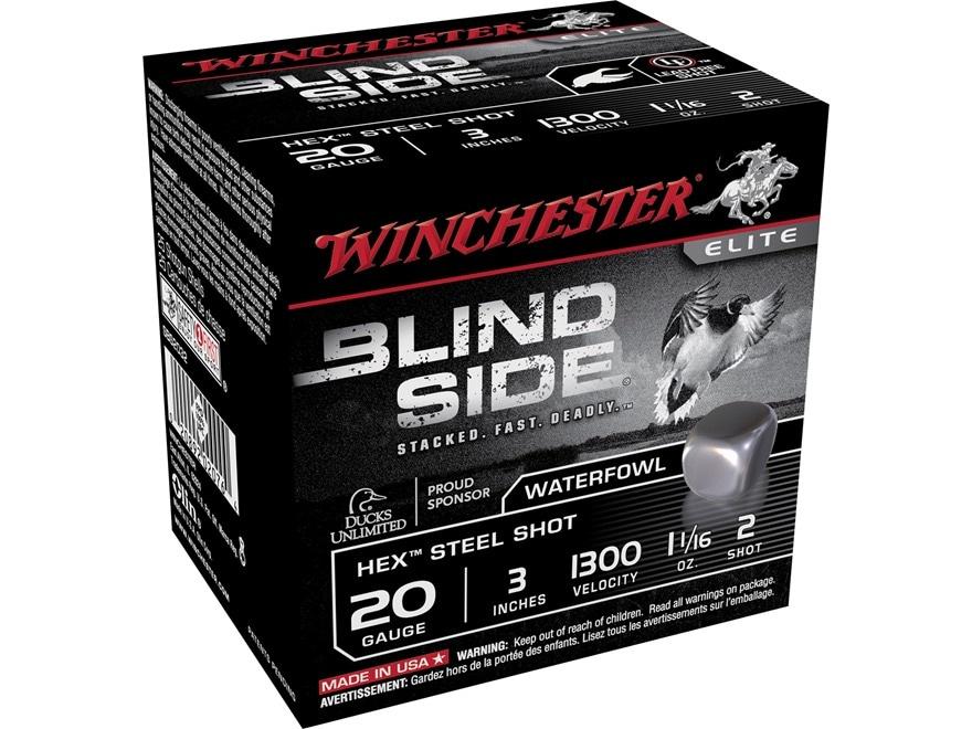 "Winchester Blind Side Ammunition 20 Gauge 3"" 1-1/16 oz #2 Non-Toxic Steel Shot"
