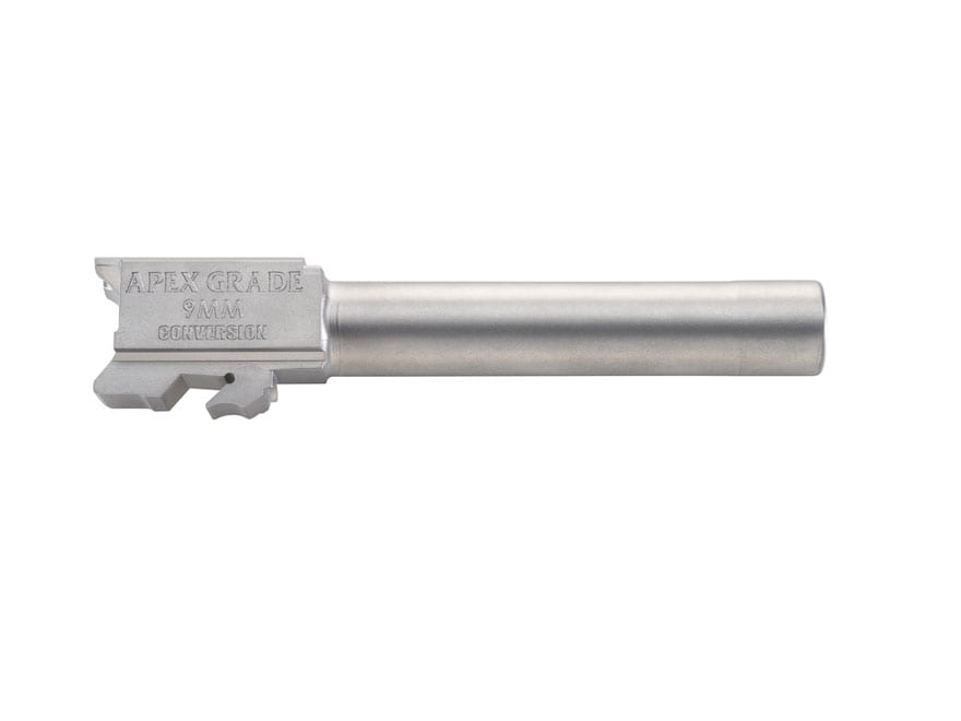 """Apex Tactical Barrel S&W M&P 40 S&W to 9mm Luger Conversion 1 in 10"""" Twist 4.25"""" Stainl..."""