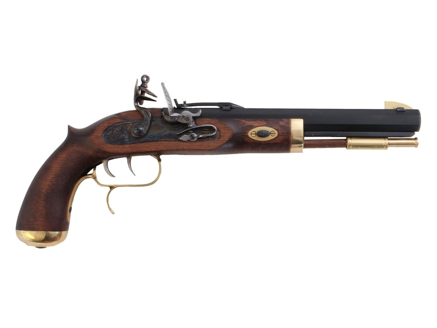 "Traditions Trapper Muzzleloading Pistol Kit 50 Caliber Flintlock 9.75"" Barrel Hardwood ..."