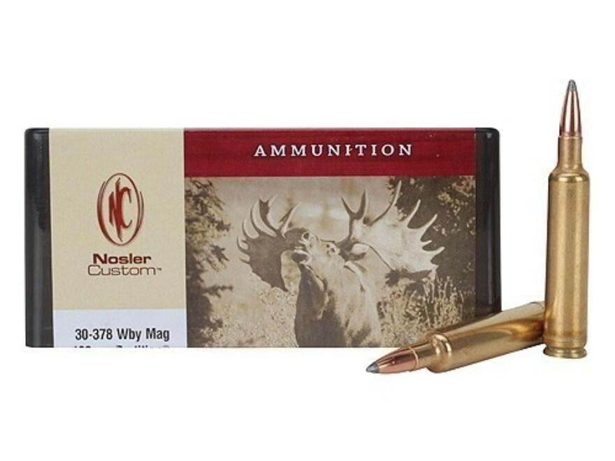Nosler Custom Ammunition 30-378 Weatherby Magnum 180 Grain Partition Spitzer Box of 20