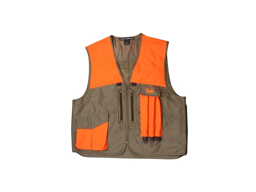 Banded Big Stone Oxford Upland Game Vest Polyester Brown and Blaze Orange