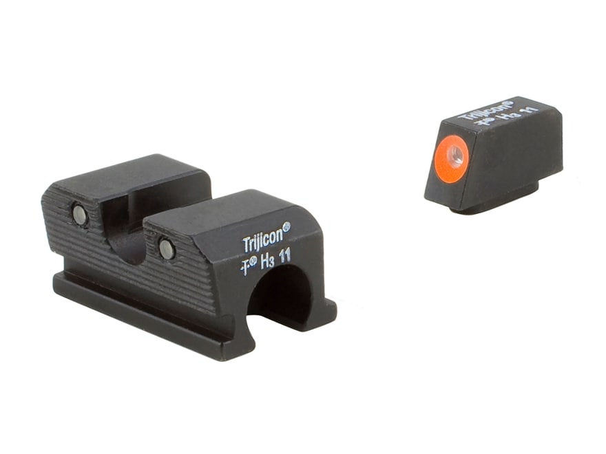 Trijicon HD Night Sight Set Walther P99, PPQ Steel Matte 3-Dot Tritium Green with Front...
