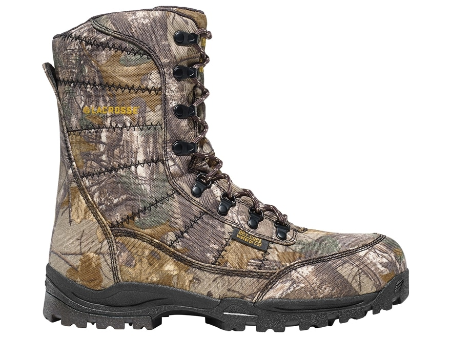"""LaCrosse Silencer 8"""" Waterproof 1000 Gram Insulated Hunting Boots Leather/Nylon Realtre..."""