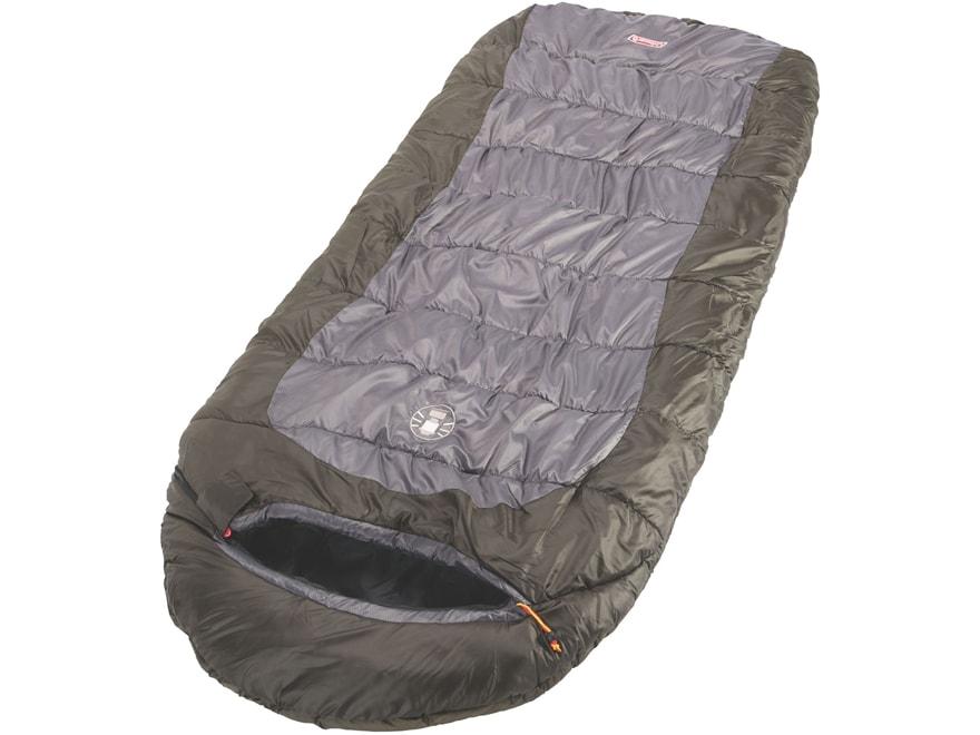 Coleman Big Basin 10 Degree  Hybrid Sleeping Bag Polyester Brown and Gray