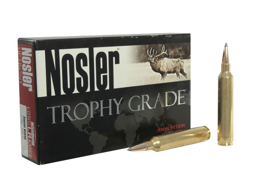 Nosler Trophy Grade Ammunition 7mm Remington Ultra Magnum 175 Grain AccuBond Long Range...