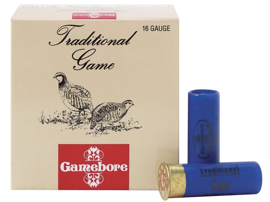 "Kent Cartridge Gamebore Game and Hunting Ammunition 16 Gauge 2-1/2"" 1 oz #6 Shot Box of 25"
