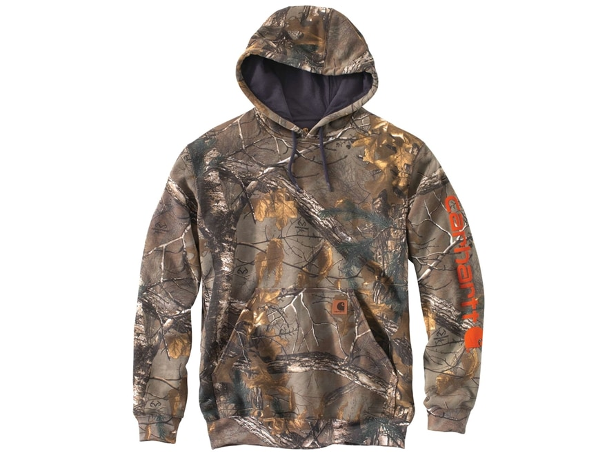 Carhartt Men's Logo Hooded Sweatshirt Cotton/Polyester