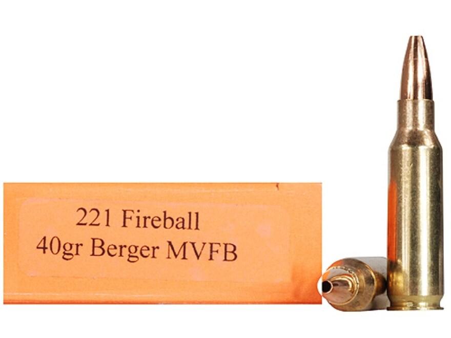 HSM Varmint Gold Ammunition 221 Remington Fireball 40 Grain Berger Varmint Hollow Point...