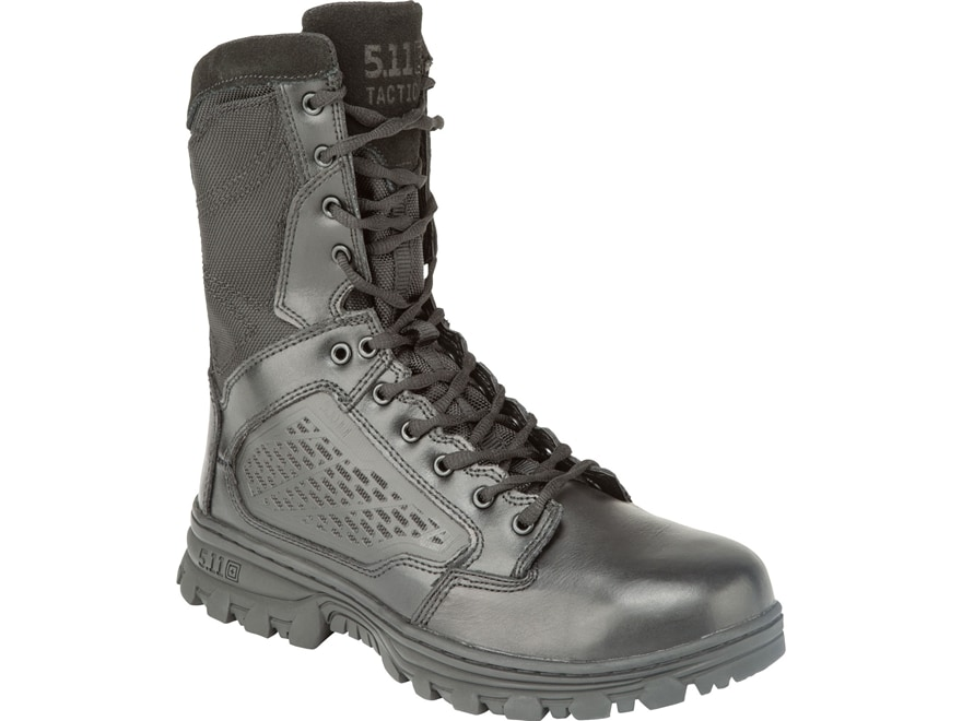 """5.11 EVO 8"""" Side Zip Tactical Boots Leather and Nylon Black Men's"""