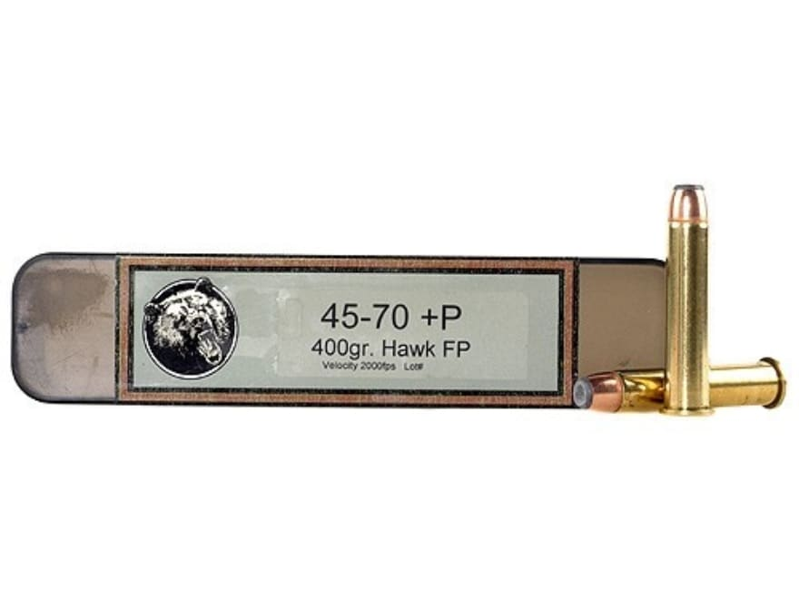 Grizzly Ammunition 45-70 Government +P 405 Grain Hawk Bonded Core Jacketed Flat Point B...