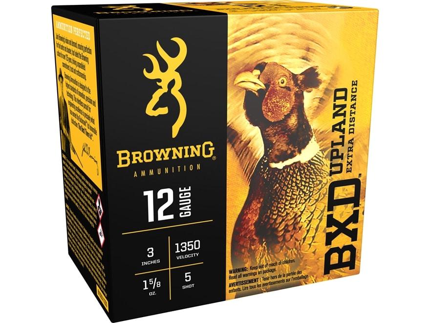 """Browning BXD Upland Ammunition 12 Gauge 3"""" 1-5/8 oz #5 Shot"""