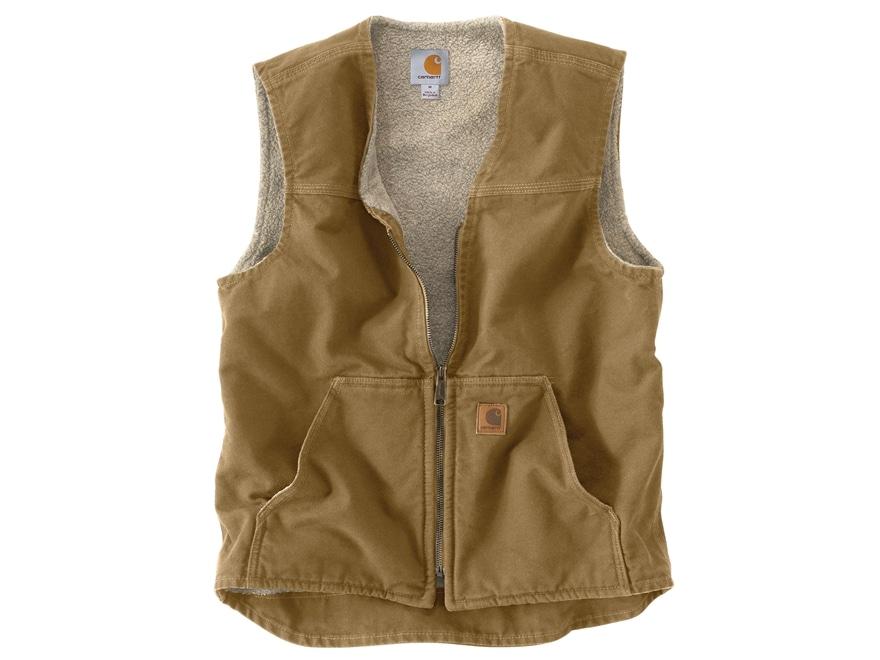 Carhartt Men's Rugged Sherpa-Lined Sandstone Vest Cotton