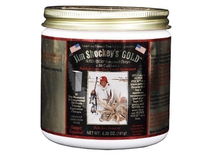 American Pioneer Jim Shockey's Gold Black Powder Substitute 50 Caliber 150 Grain Sticks...