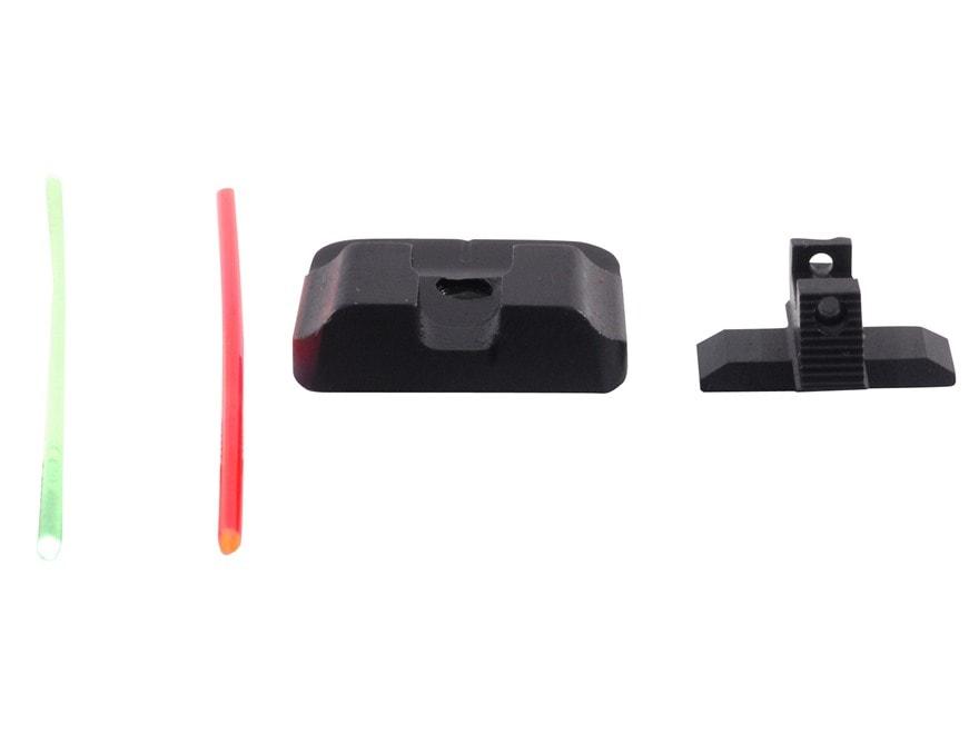 Warren Tactical Sight Set Springfield XD, XDM Plain Tactical Rear, Fiber Optic Front St...