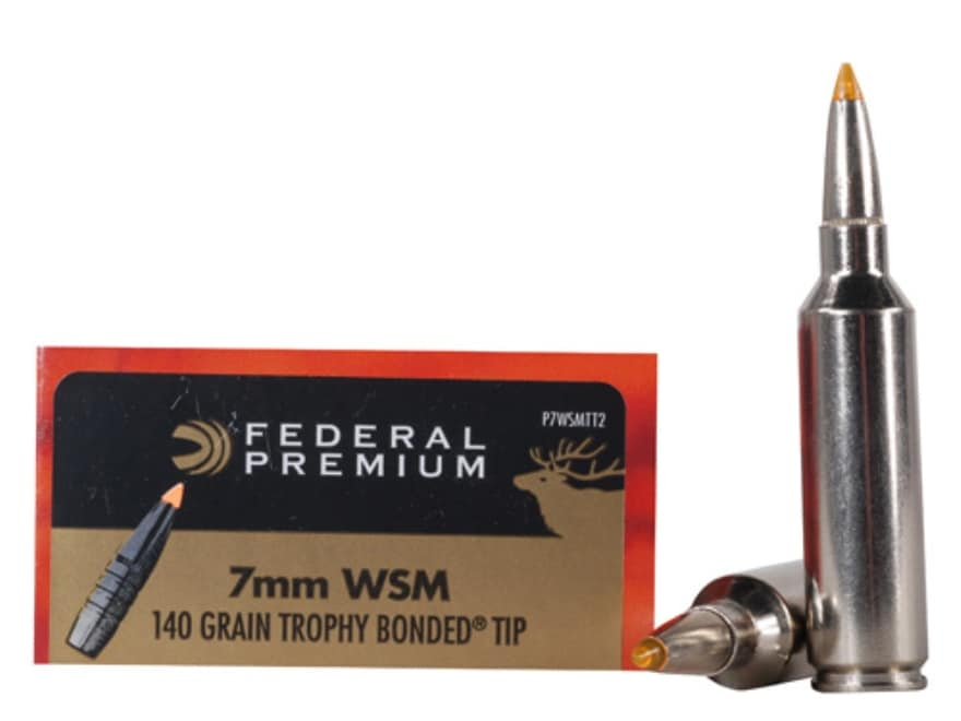 Federal Premium Vital-Shok Ammunition 7mm Winchester Short Magnum (WSM) 140 Grain Troph...