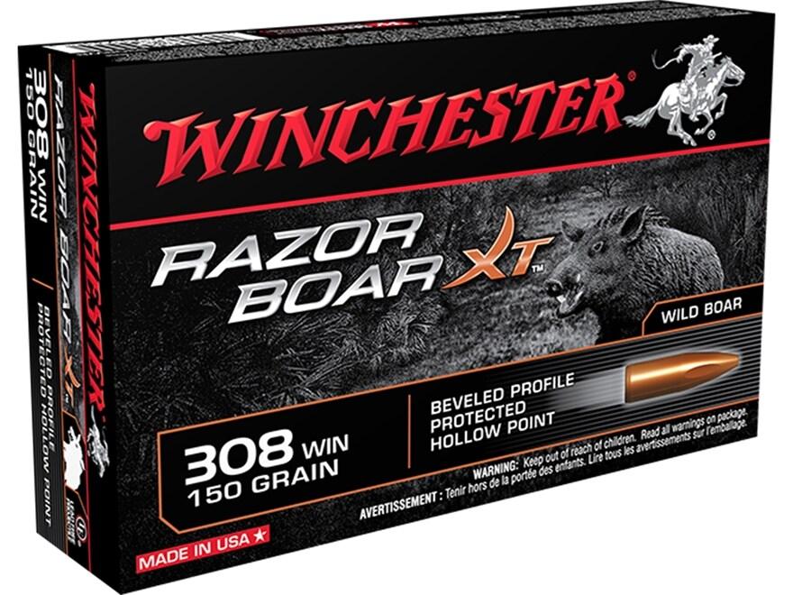 Winchester Razor Boar XT Ammunition 308 Winchester 150 Grain Hollow Point Lead-Free