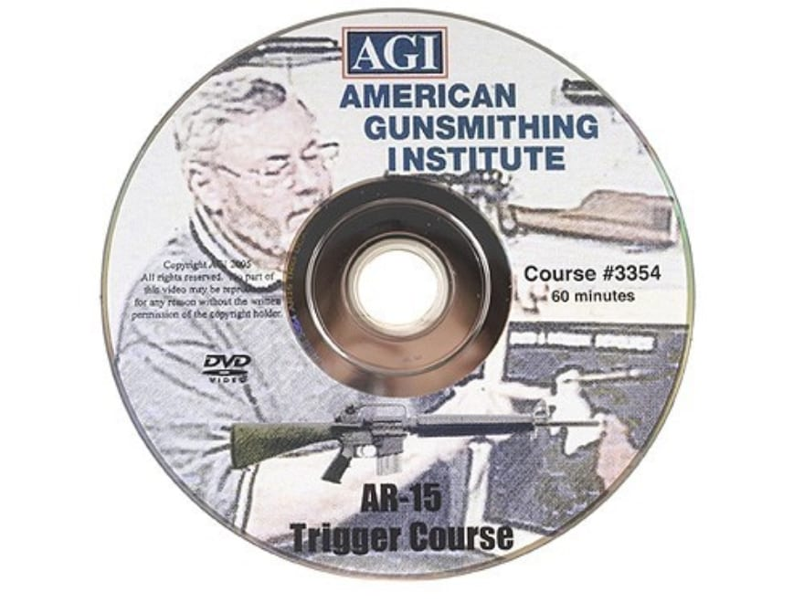 "American Gunsmithing Institute (AGI) Trigger Job Video ""AR-15 Type Rifle"" DVD"