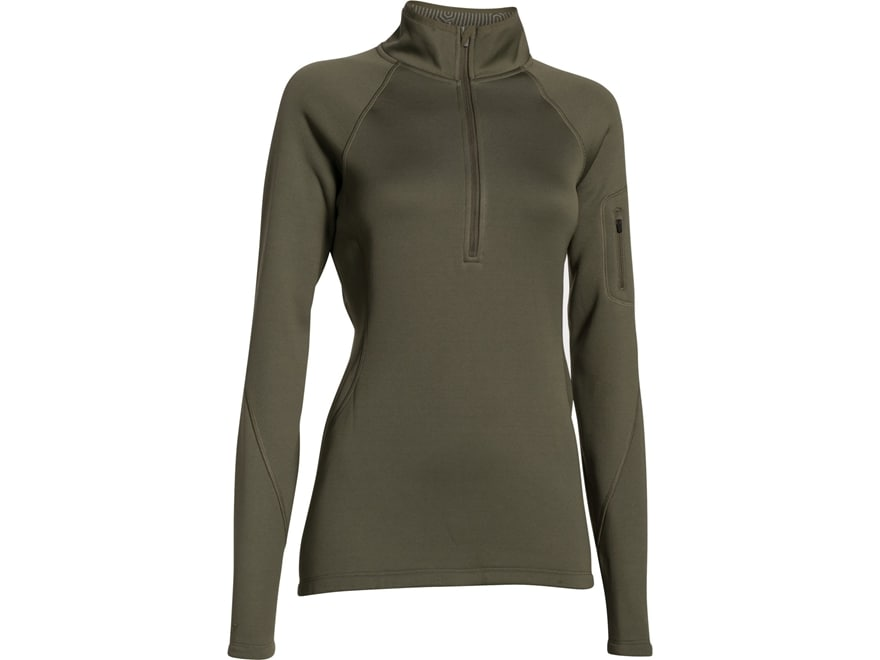 Under Armour Women's UA Tac ColdGear Infrared 1/4 Zip Jacket Polyester Marine OD Green ...