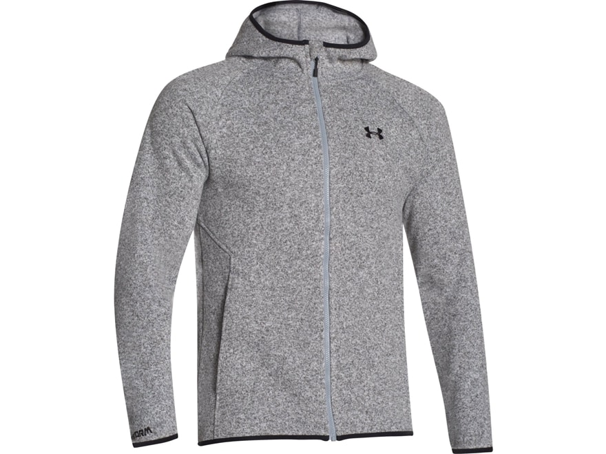 Under Armour Men's UA Forest Full Zip Hoodie Polyester True Gray Heather  Large