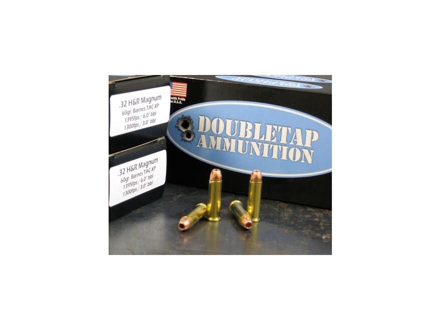 DoubleTap Ammunition 32 H&R Magnum 60 Grain Barnes TAC-XP Hollow Point Lead-Free Box of 50