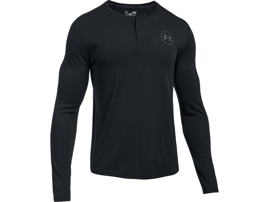 Under Armour Men's UA Freedom Threadborne Henley Shirt Long Sleeve Polyester