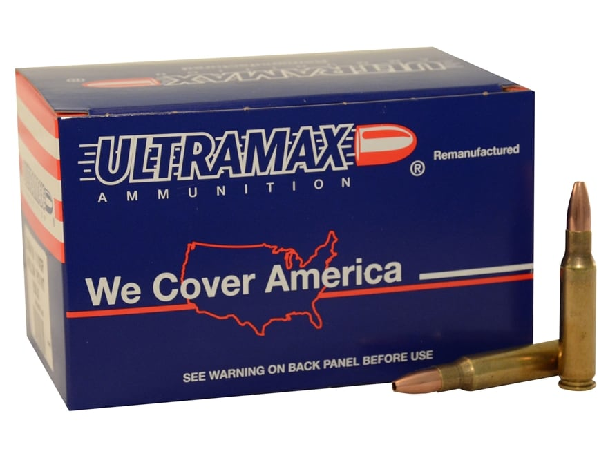 Ultramax Remanufactured Ammunition 308 Winchester 168 Grain Hollow Point Boat Tail Box ...