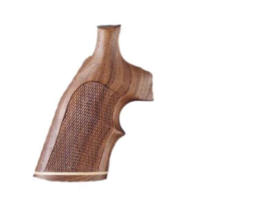 Hogue Fancy Hardwood Grips with Accent Stripe and Top Finger Groove Dan Wesson Large Fr...