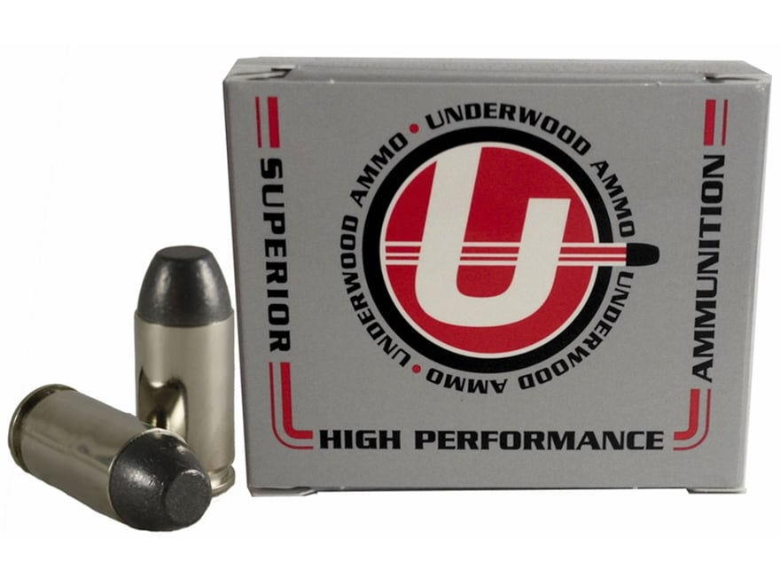 Underwood Ammunition 380 ACP +P 100 Grain Lead Flat Nose Box of 20