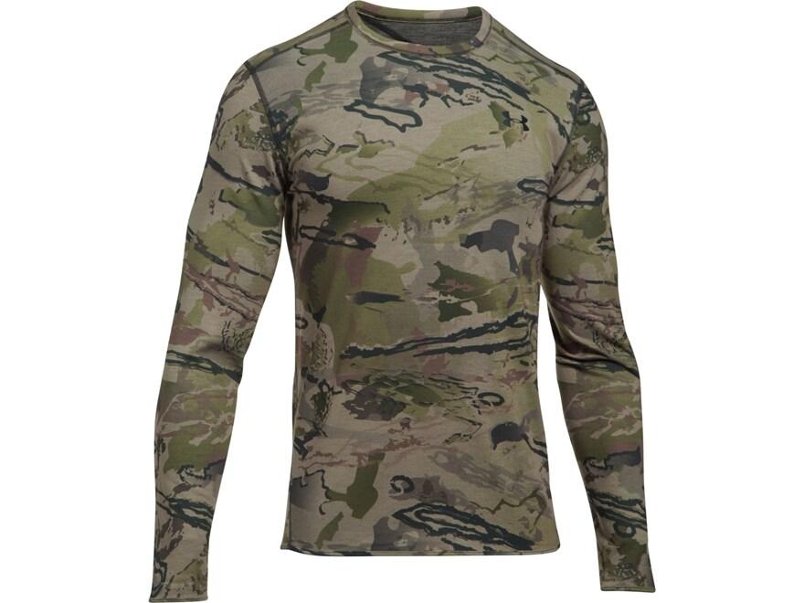 Under Armour Men's UA Mid-Season Reversible Wool Base Layer Shirt Long Sleeve Polyester...