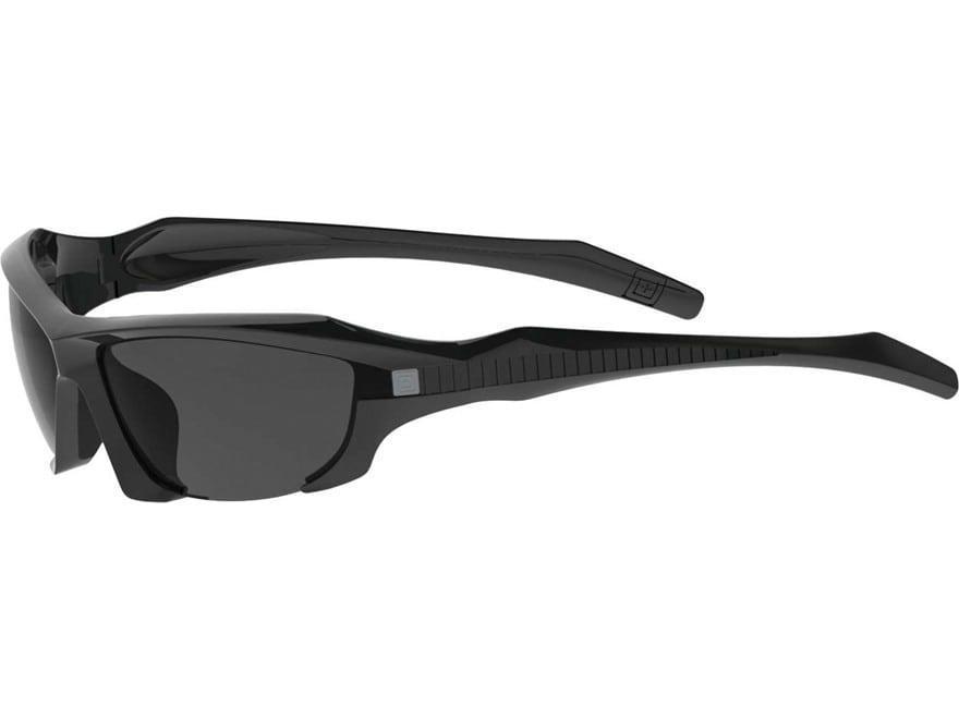 5.11 Burner Half Frame Sunglasses Black Matte Polymer Frame with Clear, Smoke and Balli...