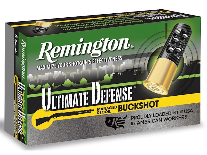 "Remington Ultimate Defense Buckshot Ammunition 20 Gauge 2-3/4"" Reduced Recoil #3 Bucksh..."