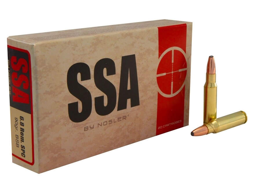 Silver State Armory Ammunition 6.8mm Remington SPC 90 Grain Bonded Protected Point Box ...