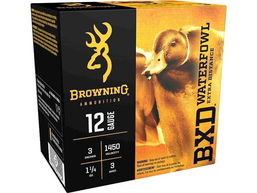 "Browning BXD Waterfowl Ammunition 12 Gauge 3"" 1-1/4 oz #3 Non-Toxic Steel Shot"