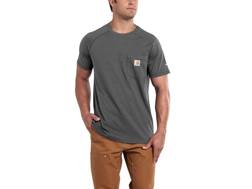 Carhartt Men's Force Delmont T-Shirt Short Sleeve Cotton/Polyester
